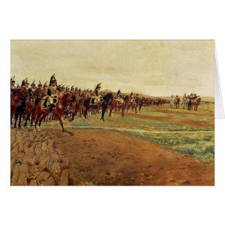 Los coraceros antes de su carga en la batalla tarjeta de felicitación