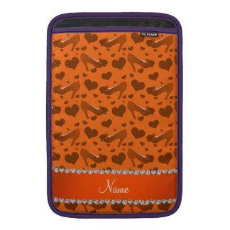 Los corazones anaranjados conocidos personalizados fundas para macbook air