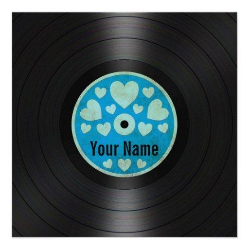 Los corazones azules personalizaron el álbum de di anuncios personalizados