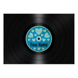 Los corazones azules personalizaron el álbum de di plantillas de tarjetas de visita