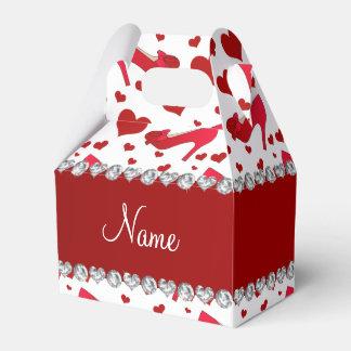 Los corazones blancos rojos conocidos caja para regalo de boda