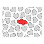 Los corazones chocan tarjeta postal
