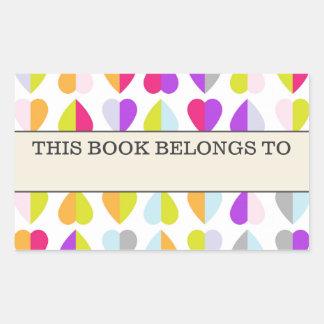 Los corazones coloridos este libro pertenecen al rectangular altavoz
