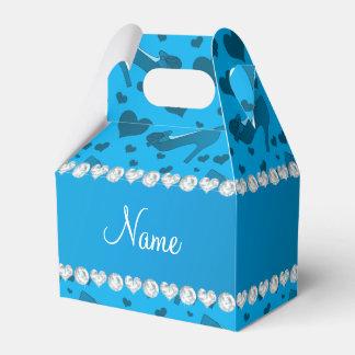 Los corazones conocidos personalizados del azul de caja para regalo de boda