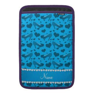 Los corazones conocidos personalizados del azul de fundas MacBook