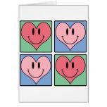 Los corazones de la tarjeta del día de San