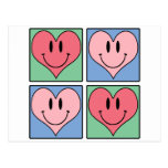 Los corazones de la tarjeta del día de San Postal