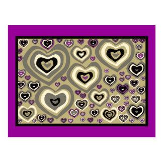 Los corazones de martes, edredón de corazones, pla postales
