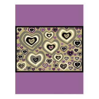 Los corazones de martes, edredón de corazones, pla tarjeta postal