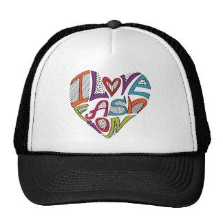 """Los corazones de palabras """"amo la moda """" gorros bordados"""