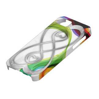 Los corazones de plata doblan el infinito y los funda para iPhone SE/5/5s
