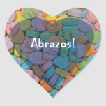 Los corazones del Abrazos-Caramelo - dígalo en Pegatina En Forma De Corazón