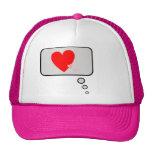 Los corazones del amor piensan el gorra de la burb