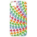 Los corazones del arco iris asperjan el iPhone col iPhone 5 Protector