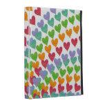 Los corazones del arco iris asperjan la caja color