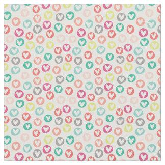 Los corazones del círculo modelaron la tela telas