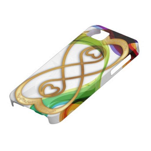 Los corazones del oro doblan el infinito y los funda para iPhone SE/5/5s