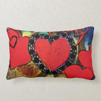 Los corazones diseñan la almohada lumbar