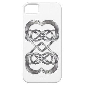 Los corazones entrelazados doblan infinito en la p iPhone 5 fundas