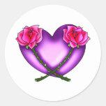¡Los corazones, flores, llevan… oh mi! Pegatinas Redondas