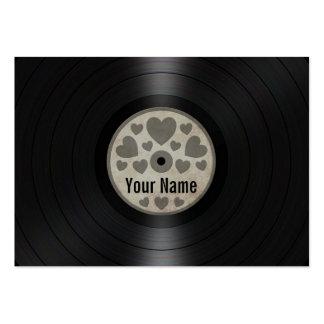 Los corazones grises personalizaron el álbum de di tarjeta de negocio