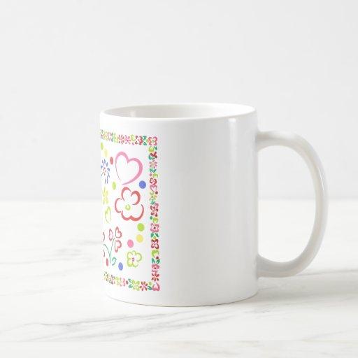 """Los corazones """"n"""" florecen la taza"""