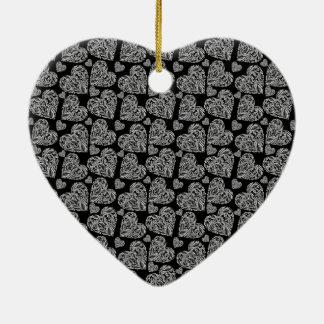 Los corazones negros hermosos elegantes crean para adorno