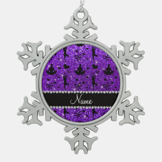Los corazones púrpuras de la yoga del brillo del adorno de peltre en forma de copo de nieve