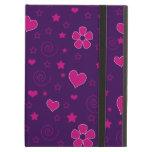Los corazones púrpuras de las flores del rosa prot