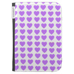 Los corazones púrpuras encienden la caja