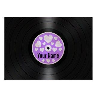 Los corazones púrpuras personalizaron el álbum de  tarjetas de visita