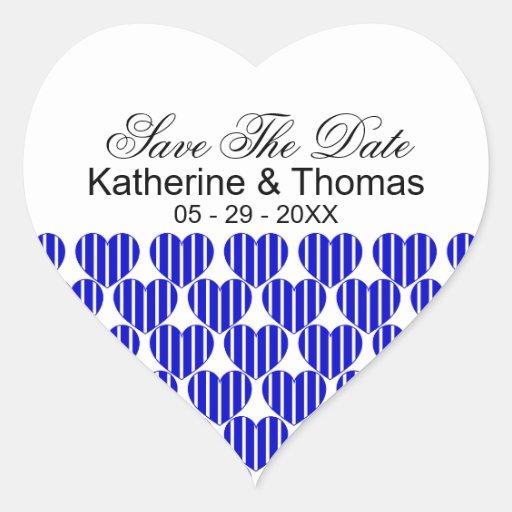 Los corazones rayados del azul real ahorran a los