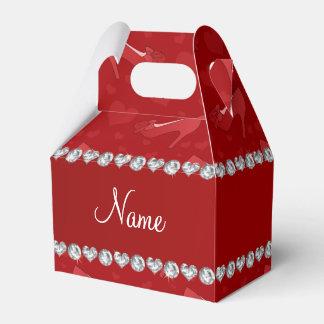 Los corazones rojos conocidos personalizados caja para regalos de fiestas