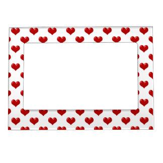 Los corazones rojos, de que son todos marcos magnéticos de fotos