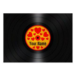 Los corazones rojos y amarillos personalizaron el  tarjeta personal