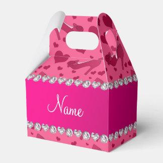 Los corazones rosados conocidos personalizados cajas para regalos