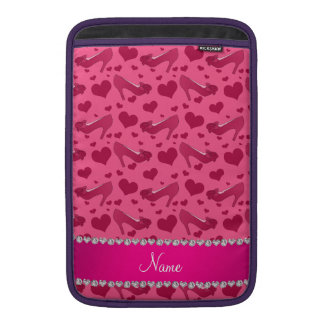Los corazones rosados conocidos personalizados fundas macbook air