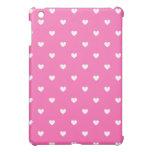 Los corazones rosados y blancos modelaron el mini  iPad mini cárcasas