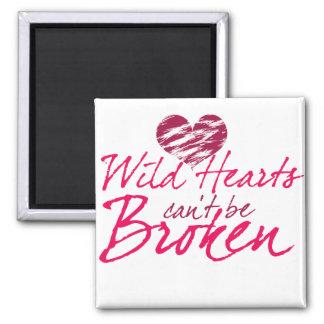 Los corazones salvajes no pueden estar rotos imanes para frigoríficos