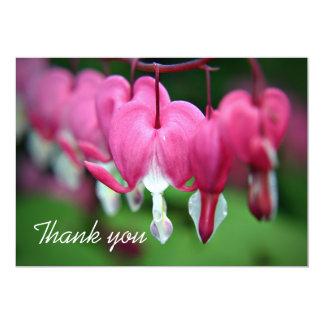 Los corazones sangrantes florales le agradecen invitación 12,7 x 17,8 cm