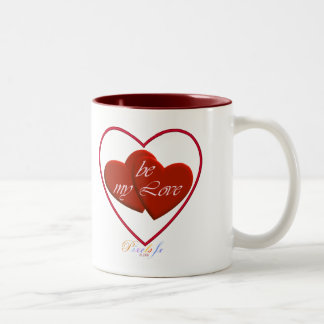 """Los """"corazones sean mi AMOR"""": Dos - taza del tono"""