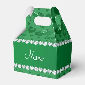 Los corazones verdes conocidos personalizados cajas para regalos