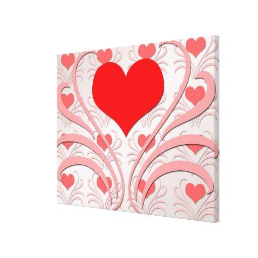 Los corazones y las vides envolvieron la impresión lona envuelta para galerias