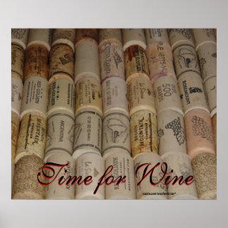 Los corchos de los amantes del vino - hora para el póster