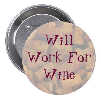 los corchos, trabajarán para el vino pin redondo 7 cm
