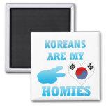 Los coreanos son mi Homies Imán Para Frigorífico