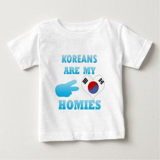 Los coreanos son mi Homies Playera De Bebé