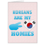 Los coreanos son mi Homies Tarjetas