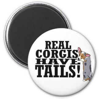 Los Corgis reales tienen colas Imanes De Nevera