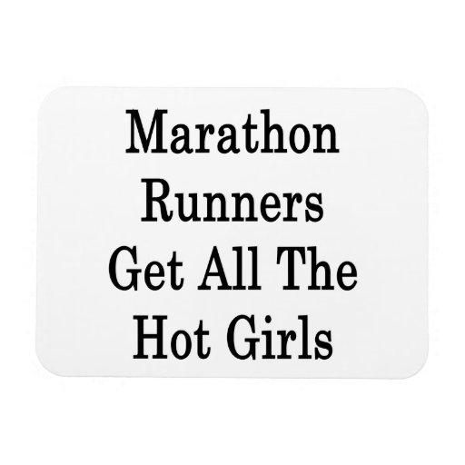 Los corredores de maratón consiguen a todos los ch imán de vinilo
